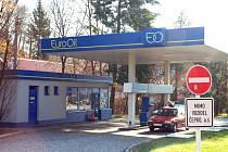Přepadená benzínová stanice ve Vsetíně