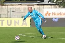 Brankář Fastavu Zlín Stanislav Dostál při zápase s Teplicemi.