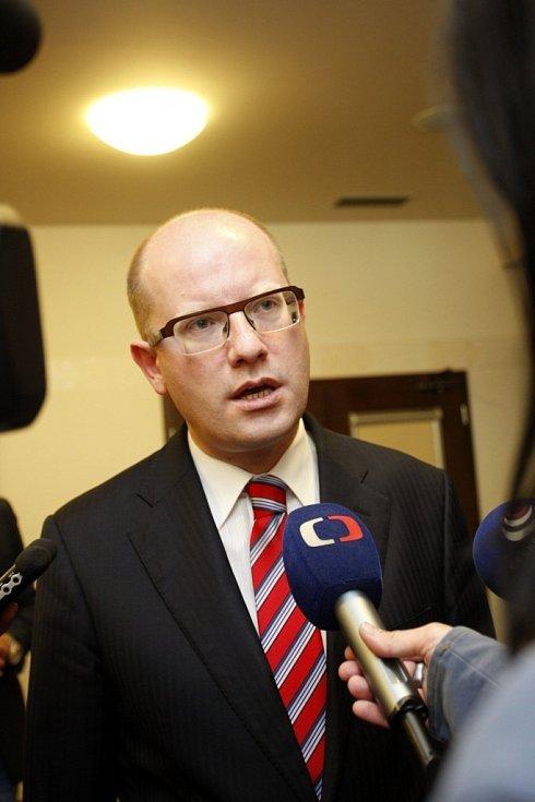 Premier Bohuslav Sobotka na návštěvě Zlínského kraje.