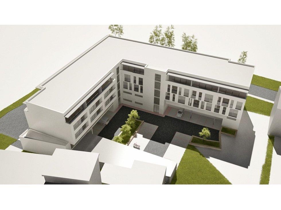 V centru Luhačovic roste víceúčelová budova Arkáda.