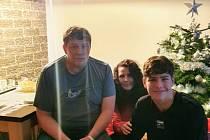 Adam Jecho s rodiči