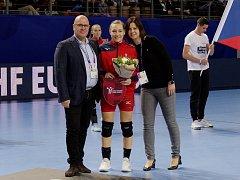 Házenkářka Jana Knedlíková odehrála proti Německu stý zápas v dresu české reprezentace.