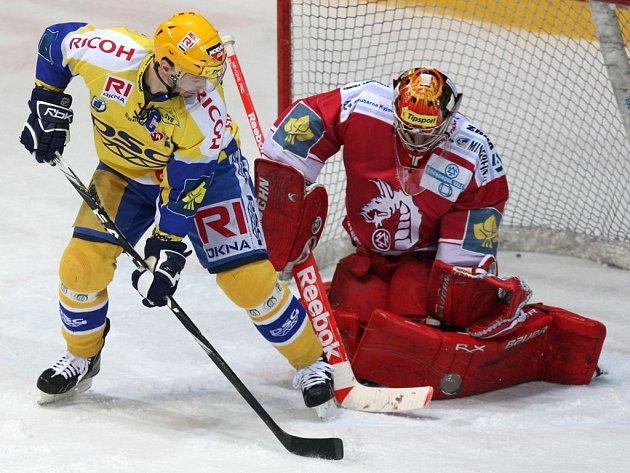 Vlevo Petr Čajánek, vpravo Peter Hamerlík.
