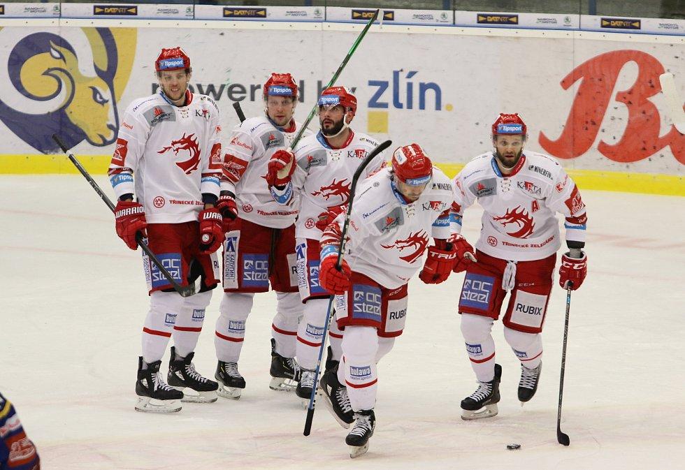 Hokejisté Zlína v 31. kole extraligy na Zimním stadionu Luďka Čajky vyzvali první Třinec.