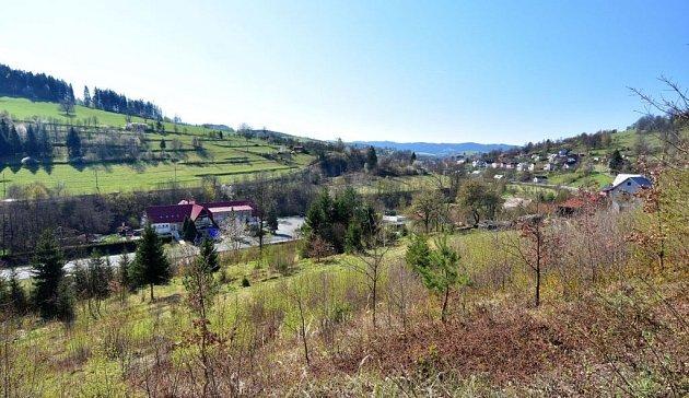 Pohled na obec Lidečko.