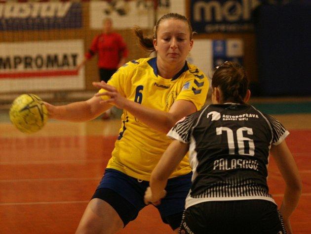 Zlínská spojka Gabriela Nygrýnová se v sobotu v Bratislavě postarala o vítěznou branku Zlína.