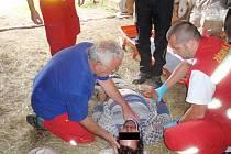 Záchrana osob z hůře přístupných míst.