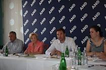 Tisková konference hnutí ANO ve Zlíně