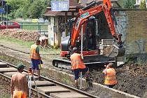 Oprava železniční tratě ve Zlíně část Příluky.