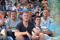 Fanoušci při utkání FC FASTAV Zlín – Vysočina Jihlava