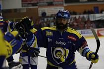 Hokejisté Aukro Berani Zlín hráli ve 28. kole proti Pardubicím.