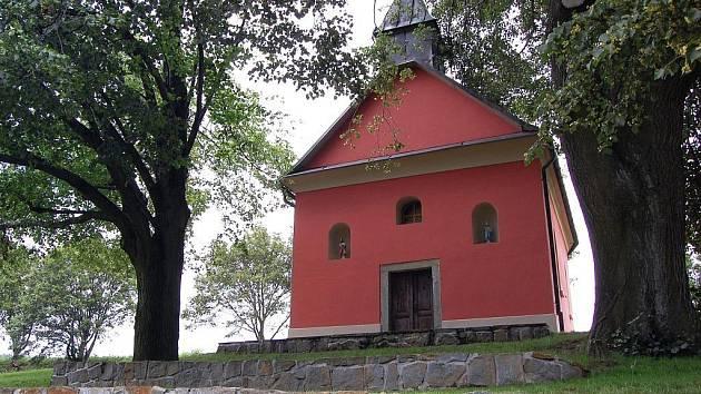 Vysocká kaple ve Vizovických vrších.