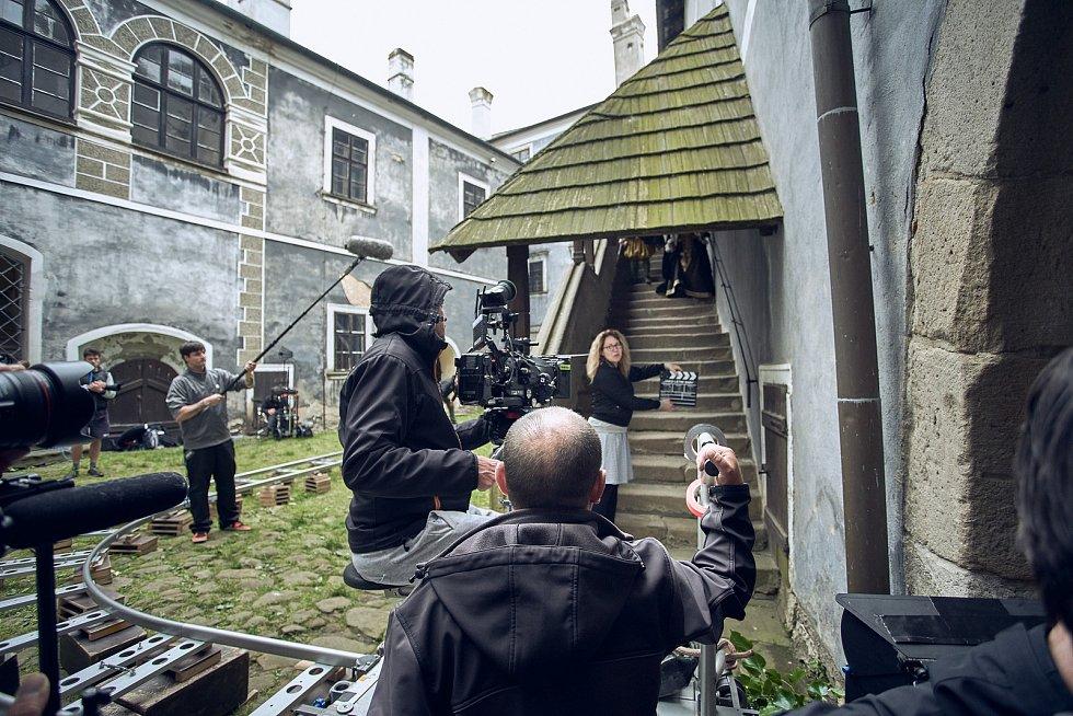 Z natáčení filmu Jako letní sníh na hradě Buchlov