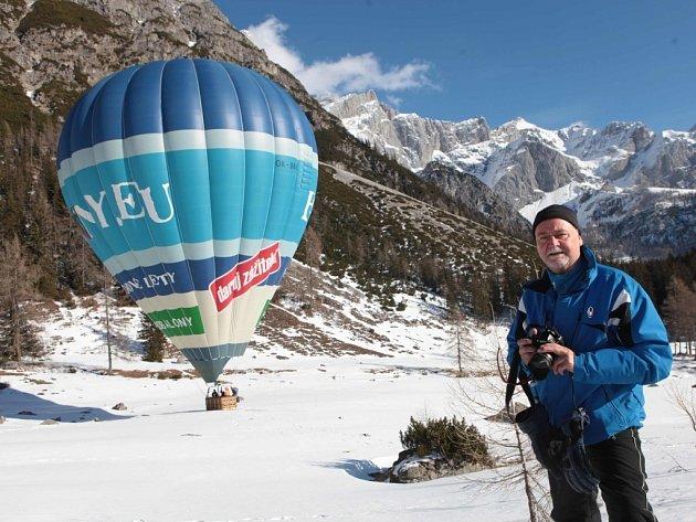5. Ballon Trophy Filzmoos 2014 - Setkání balonářů v v Alpách v Rakousku - Mezipřistání pod horou Hoher Dachstein