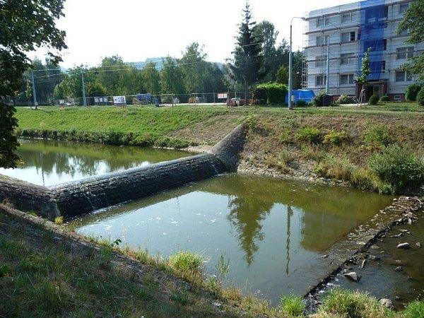 Dřevnice, stupeň Příluky I. - sucho, 10.8.2015