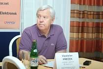 Tisková konference k Mezinárodnímu tenisovému turnaji žen ve Zlíně. Na snímku Vlastislav Přeček.