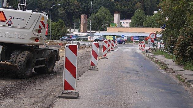 Opravy silnic v ulicích Česká a Pasecká a oprava mostu v ulici Klabalská ve Zlíně