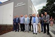 Slavnostní otevření zrekonstruované sportovní haly v Otrokovicích.