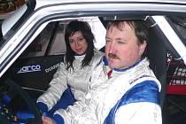 Valašská rally - posádka Roman Vaněk - Diana Vaňková.