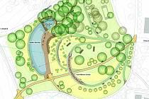 Schéma podoby Centrálního parku Jižní Svahy.