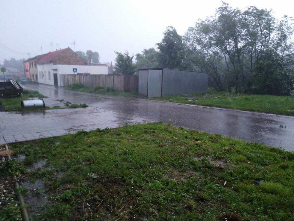 Přívalový déšť, Rataje na Kroměřížsku, 13. 6. 2020