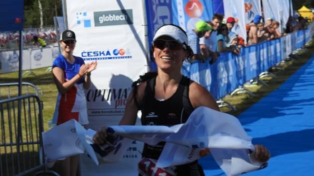 Helena Kotopulu před mistrovstvím světa v dlouhém triatlonu ve Španělsku 2019