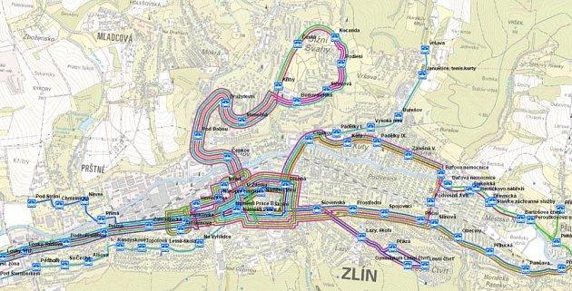 Jeden zdokumentů, který byl ve středu večer lidem představen, byl inávrh nového vedení trolejbusových linek ve Zlíně.