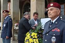 Před radnicí si připomněli osvobození Zlína