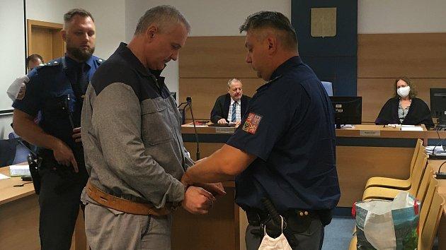 Radek Březina u zlínského krajského soudu - 9. 9. 2020