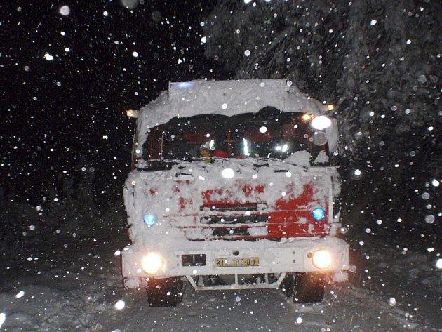 Sněhová kalamita ve Zlínském kraji.