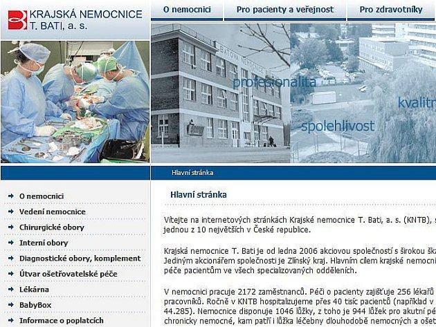 K lepšímu způsobu komunikace s veřejností přistoupila v těchto dnech zlínská Baťova nemocnice. V polovině dubna spustila novou internetovou prezentaci.