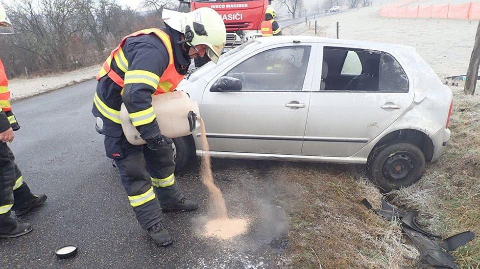 Nehoda ve Valašských Kloboukách v místní části Lipina