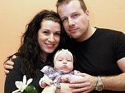 Vítání občánků 27.3. 2015. Albertt Lutka a Kateřina Talašová s dcerou Laurou Lutkovou.