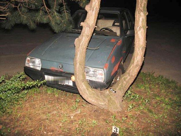 Žena usedla za volant bez řidičského průkazu, navíc v opilosti a havarovala do stromu nedaleko Tlumačova.