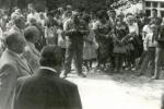 VÝZNAMNÁ UDÁLOST. Tou bylo bezpochyby slavnostní otevření nové školy, které se konalo 27. srpna 1977. Akce se zúčastnilo mnoho místních, včetně tamních školáků.