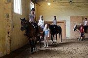 Jezdecký tábor na ranči Ikária v Březůvkách.