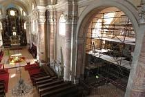 Oprava poutního chrámu Narození Panny Marie ve Štípě.