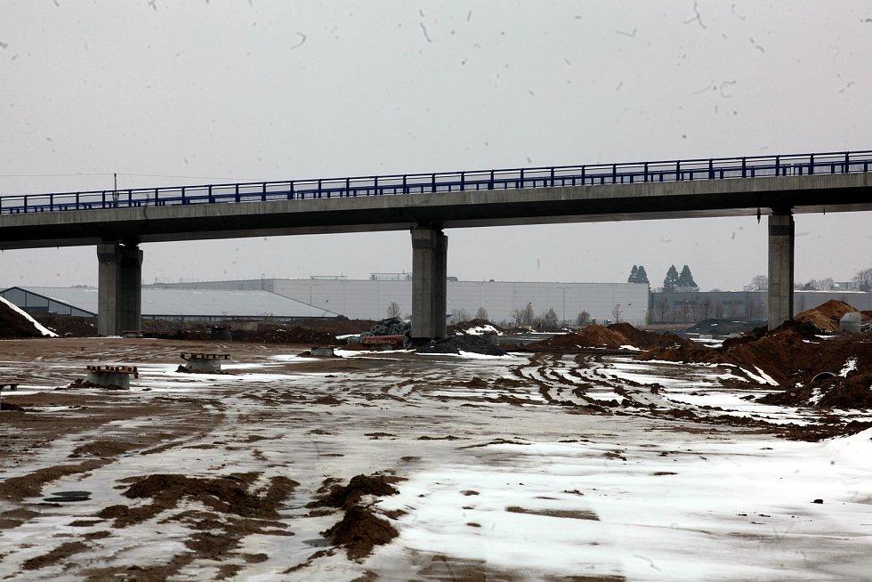 Jihovýchodní obchvat Otrokovic. Únor 2021.