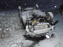V části Žabárna došlo k havárii osobního auta zn. Š Fabia combi.