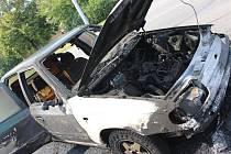 Na Okružní ve Zlíně shořel osobní vůz
