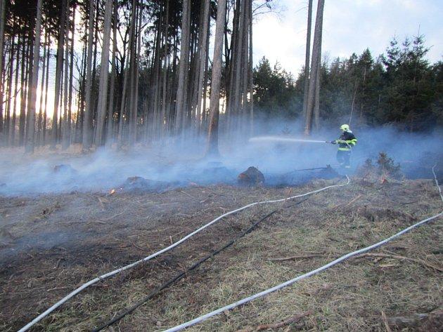 Požáry ve Zlínském kraji.