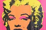 Výstava POP ART na zámku ve Zlíně. Andy Warhol Marilyn Monroe
