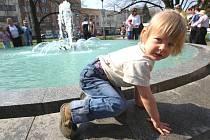 Zlínská fontána už tryská.