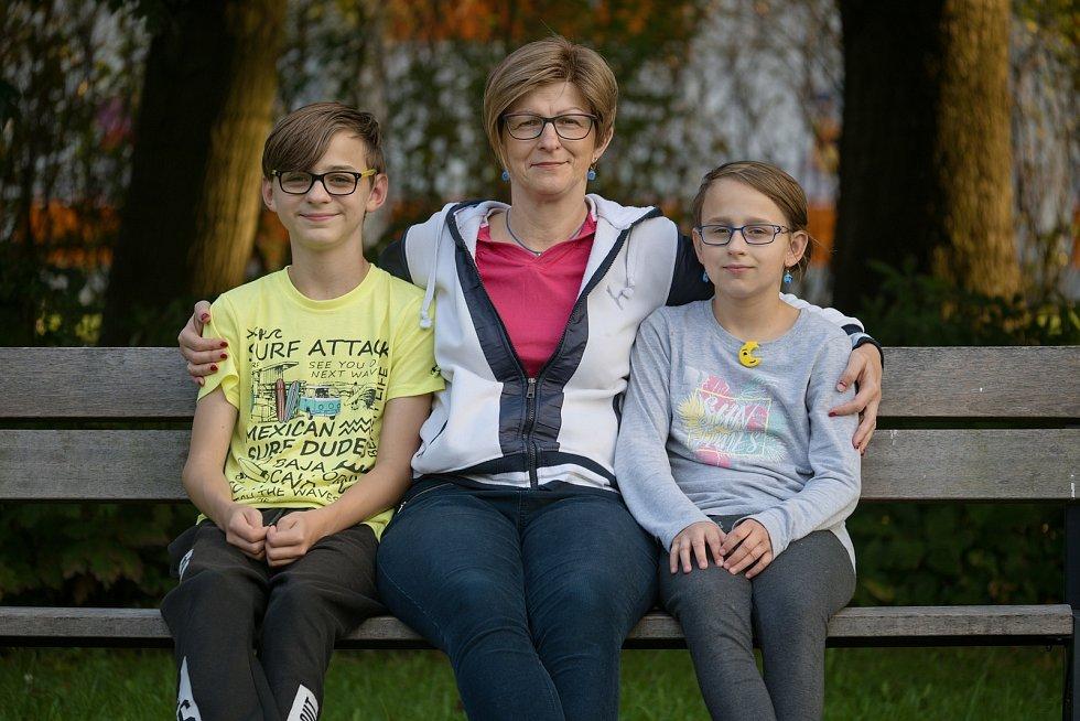 Andera Grechová s dětmi.