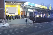 Požár v nákupním centru ve Zlíně.