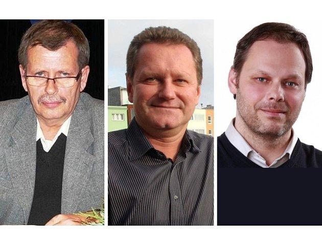 Jaroslav Budek, starosta Otrokovic, Miroslav Adámek, primátor Zlína, Michal Špendlík, starosta Želechovic
