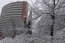 Sněhová nadílka na Jižních Svazích ve Zlíně - 23. ledna 2021 ráno