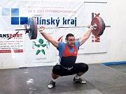Tomáš Hofrbauer, stříbrný v kat. mužů + 105 kg. 265 kg