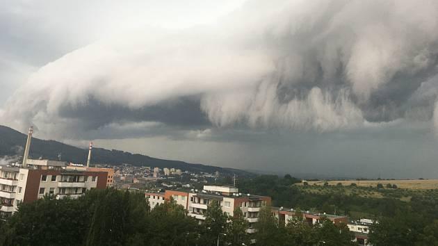 Bouřka nad Zlínem 20. července 2020