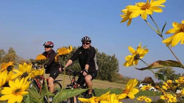 Babí léto na cyklostezce okolo Baťova kanálu ve Spytihněvi.